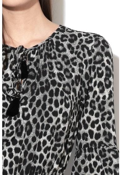 Michael Michael Kors Rochie evazata cu animal print si funda din panglica Femei