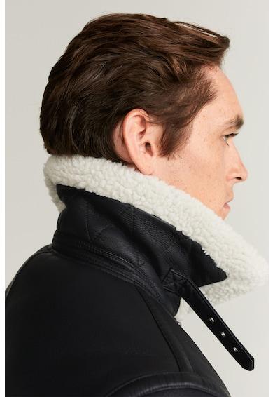 Mango Jacheta cu captuseala si garnituri de blana shearling sintetica Michigan Barbati