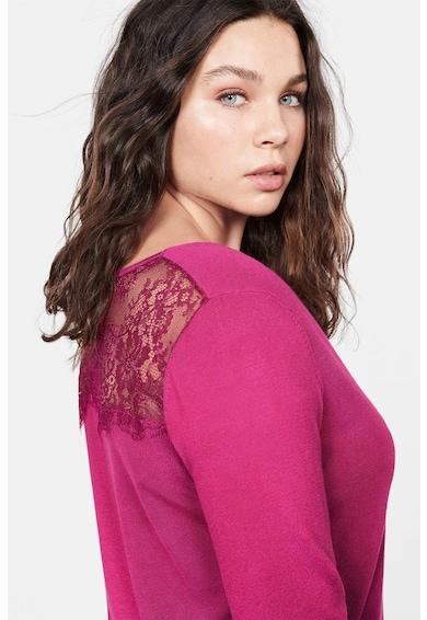 VIOLETA BY MANGO Фино плетен пуловер Laceing Жени