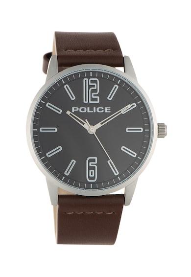 Police Аналогов часовник с кожена каишка Мъже