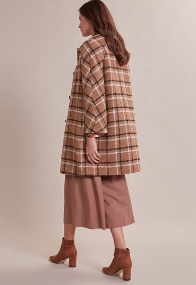 Oltre Palton din amestec de lana, in carouri Femei