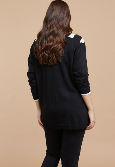 Fiorella Rubino Pulover din amestec de lana, cu guler drapat Femei