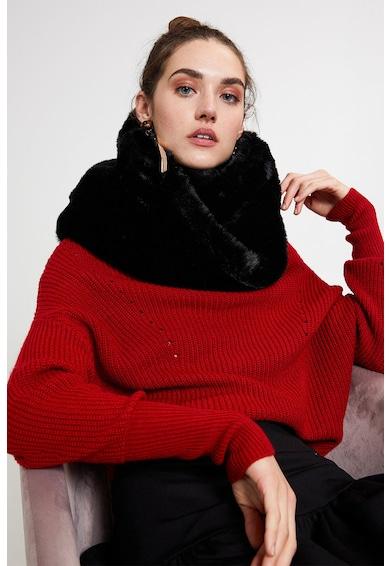 Motivi Fular circular din blana sintetica Femei
