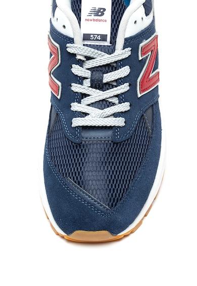 New Balance Pantofi sport cu garnituri de piele intoarsa si plasa 574 Barbati