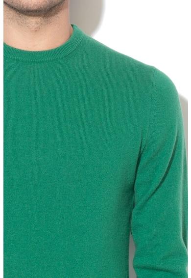 United Colors of Benetton Pulover de casmir cu decolteu la baza gatului Barbati