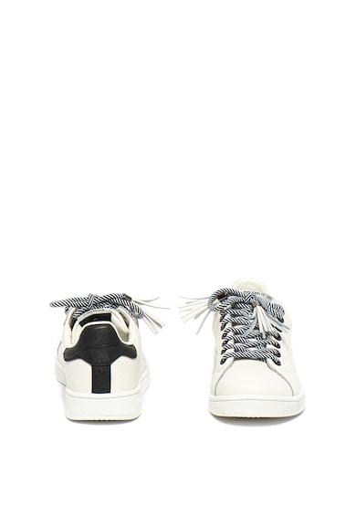 Pepe Jeans London Pantofi sport din piele cu sireturi cu dungi Bromton Femei