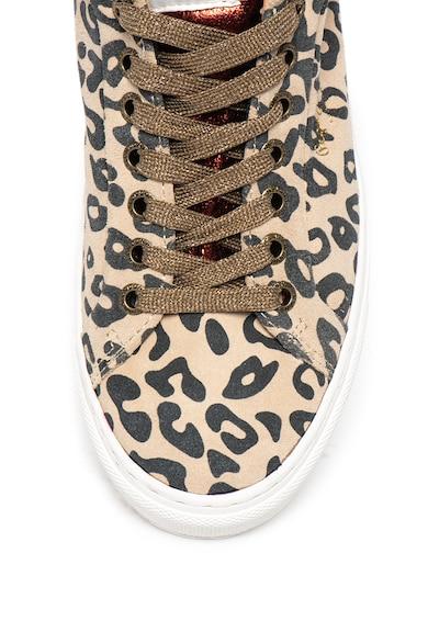 Pepe Jeans London Pantofi sport de piele intoarsa cu animal print Adams Femei