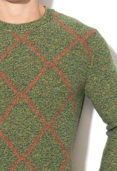 United Colors of Benetton Pulover de lana in carouri Barbati