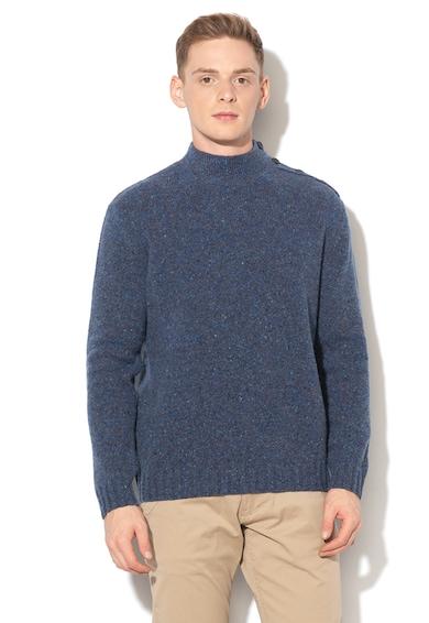 United Colors of Benetton Pulover din amestec de lana cu nasturi decorativi Barbati