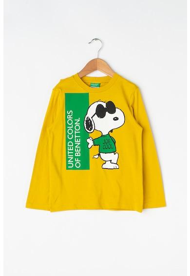 United Colors of Benetton Bluza din bumbac organic, cu imprimeu Snoopy Baieti