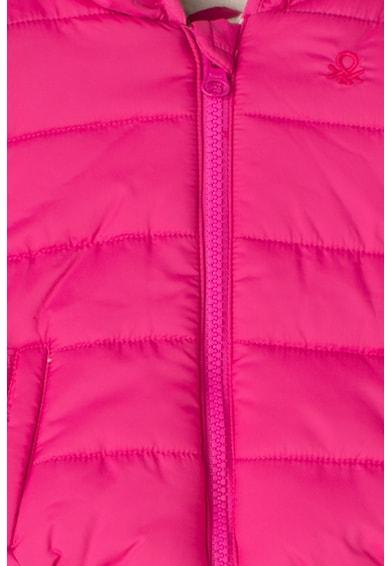 United Colors of Benetton Geaca cu gluga si captuseala de fleece Fete