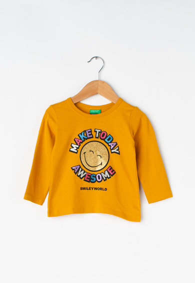 United Colors of Benetton Bluza din bumbac cu imprimeu Fete