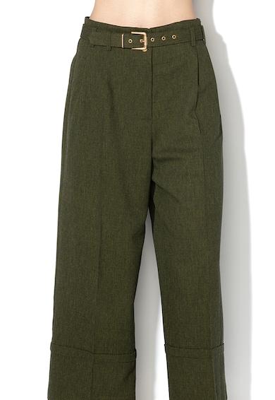 Sisley Pantaloni cu croiala ampla, pensa si mansete rasucite Femei