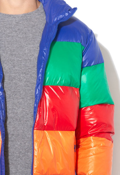 United Colors of Benetton Geaca cu umplutura de puf, cu dungi Barbati