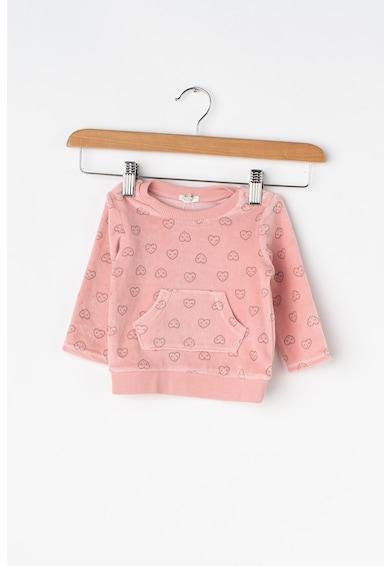 United Colors of Benetton Set de pantaloni sport si bluza sport cu aspect catifelat Fete