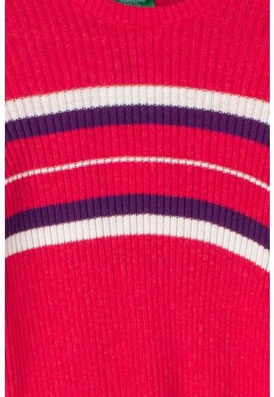 United Colors of Benetton Pulover cu model in dungi si striatii Fete