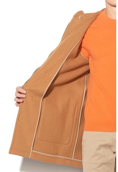 United Colors of Benetton Palton duffle din amestec de lana, cu gluga Barbati