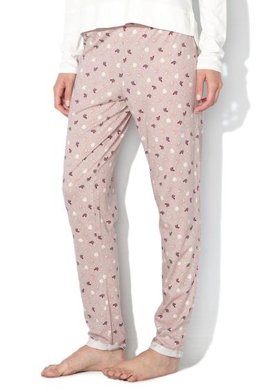 Undercolors of Benetton Pantaloni de pijama, cu imprimeu si talie elastica Femei