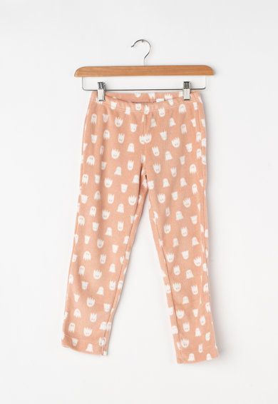 Undercolors of Benetton Pijama din material fleece, cu imprimeu grafic Fete