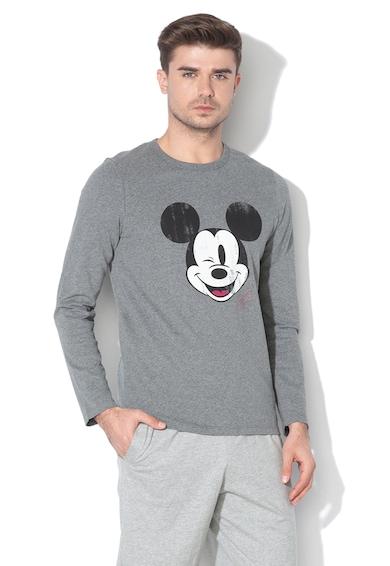 Undercolors of Benetton Bluza de pijama cu Mickey Mouse Barbati