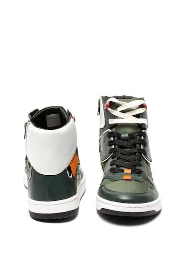 Guess Pantofi sport mid-high de piele ecologica, cu garnituri textile Barbati