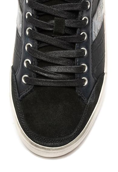 Guess Pantofi sport mid-high de piele, cu tinte Barbati