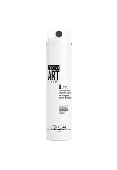 L'Oreal Professionnel Fixativ  Tecni.Art Pure 6 Fix, cu difuzie tripla de fixare, 250 ml Femei