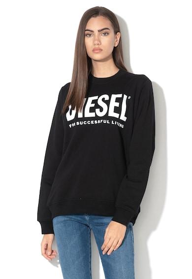 Diesel Bluza sport cu logo metalizat Ang Femei