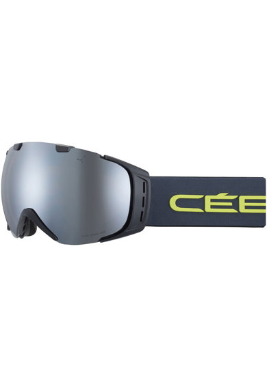 Cebe Ochelari ski  Flash Mirror Cat.3, Origins L Mat Black/Grey Lime Femei