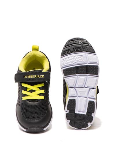 Lumberjack Pantofi sport de piele ecologica, cu garnituri textile Miss Baieti