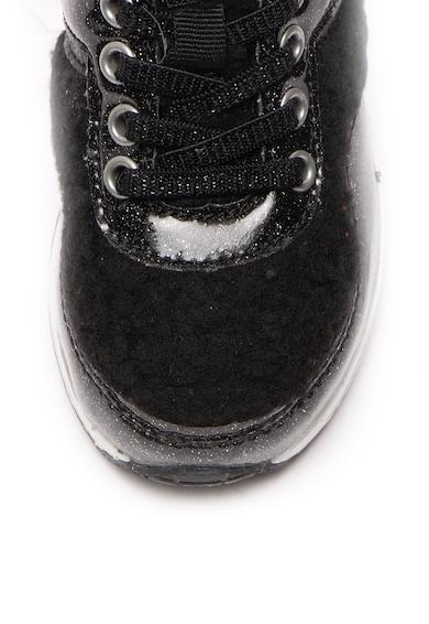 Lumberjack Pantofi sport de piele ecologica, cu garnituri de blana shearling sintetica Like Fete