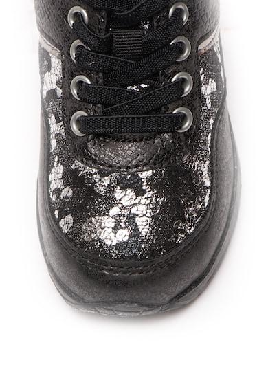 Lumberjack Pantofi sport de piele ecologica, cu garnituri metalizate Like Fete