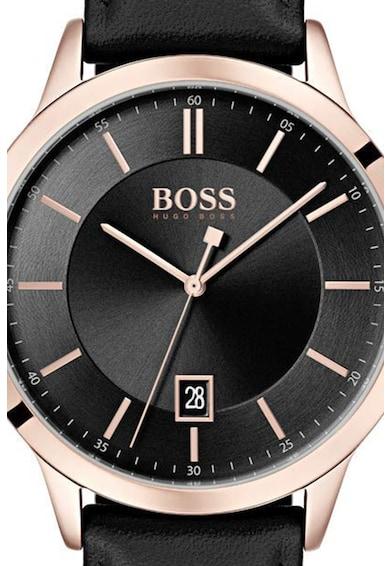 Boss Hugo Boss Ceas rotund cu o curea de piele Barbati
