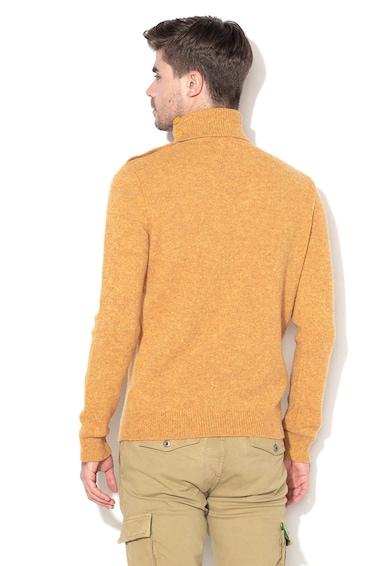 United Colors of Benetton Pulover din lana cu guler inalt Barbati