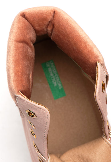 United Colors of Benetton Bocanci din piele ecologica cu garnitura catifelata Fete