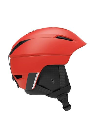 Salomon Casca schi  Pioneer, Unisex, Beluga/Neon Red, S Femei