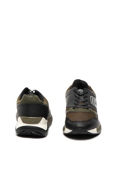 Replay Pantofi sport cu garnituri de piele White Stream Barbati