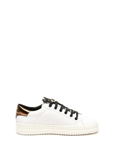 Geox Pantofi sport din piele cu garnitura din piele ecologica Pontoise Femei
