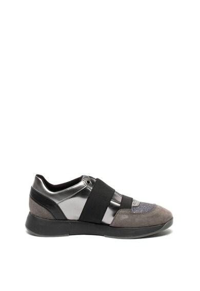 Geox Sneakers, Pantofi sport slip-on cu garnituri de piele si piele intoarsa Suzzie Femei