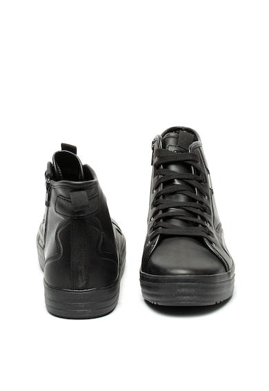 Geox Pantofi sport mid-high de piele ecologica si piele intoarsa Kelthor Barbati