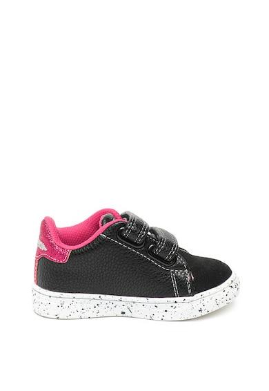 Primigi Pantofi sport de piele intoarsa si piele ecologica, cu inchidere cu velcro si detalii stralucitoare Fete