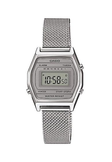Casio Ceas cronograf unisex digital cu bratara cu aspect de plasa Femei