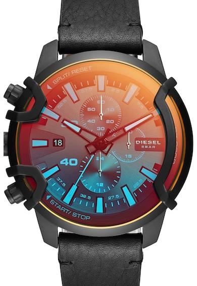 Diesel Часовник с кожена каишка и хронограф Мъже