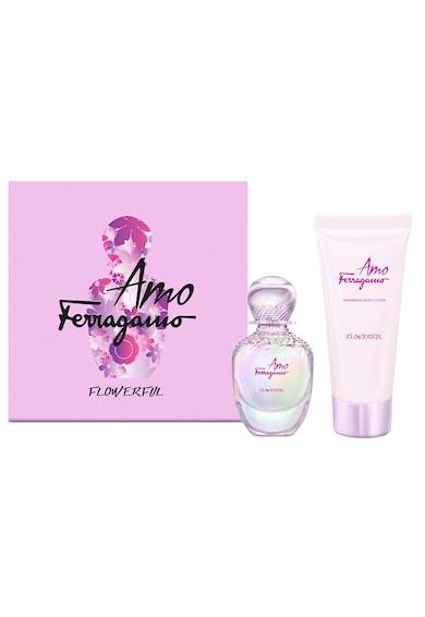 Salvatore Ferragamo Set  Amo Flowerful, Femei: Apa de Toaleta, 30 ml + Lotiune de corp, 30 ml Femei