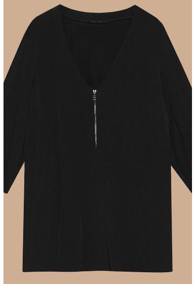 Fiorella Rubino Bluza vaporoasa cu fermoar pe partea frontala Femei