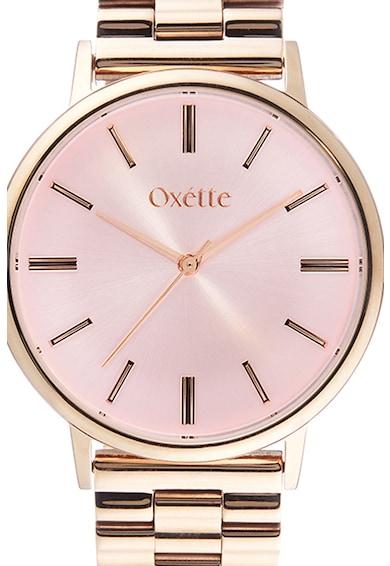 OXETTE Ceas rotund placat cu aur rose de 18K Femei