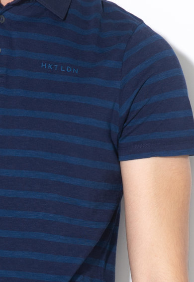 Hackett London Раирана тениска с яка Мъже