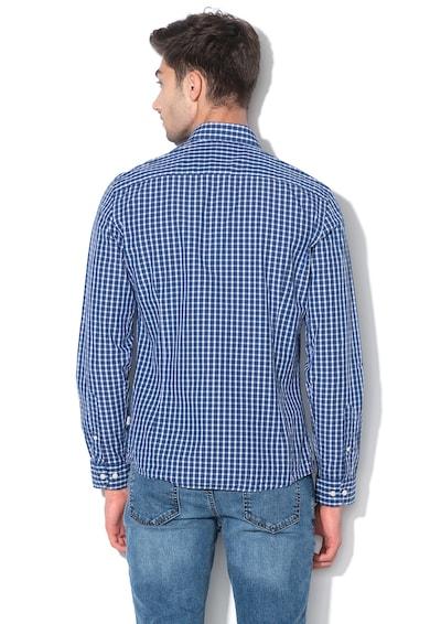 Hackett London Вталена карирана риза от памук Мъже