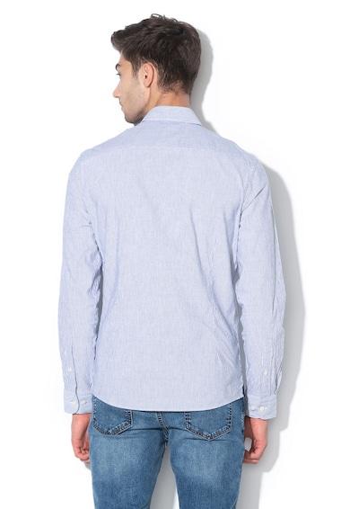 Hackett London Раирана риза с лен, по тялото Мъже
