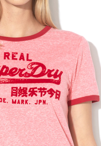 SUPERDRY Tricou cu aplicatie logo catifelata Retro Femei